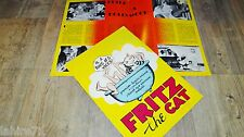 FRITZ THE CAT ! Ralph Bakshi  dossier presse scenario cinema 14 pages 1971