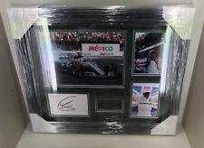Lewis Hamilton Signed & FRAMED DISPLAY MERCEDES GP AFTAL COA