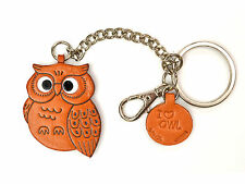 Owl Handmade 3D Leather Animal Ring Charm/Keychain VANCA Made in Japan #26051
