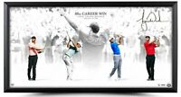 Tiger Woods Autographed Vctory 80th Career Win 36 x 18 Custom Framed Photo UDA