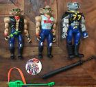 3 Biker Mice From Mars Figures Throttle & Modo + Pog & Guitar Accessories Galoob