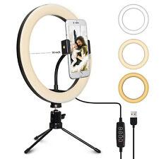 """Anillo de luz LED PARA SELFIE 10"""" y Trípode Soporte Y Flexible Soporte para teléfono para Live Stream"""