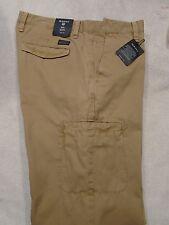 Gant SOHO Clean Cargo Chino Cotton Khaki Pants NWT 35 x 34 $175 Dark Khaki