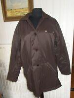 Veste droite boutons manteau 3/4 polyester marron TINTIN T.4 44/46 Brodé Milou