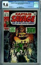 CAPTAIN SAVAGE AND HIS BATTLEFIELD RAIDERS #15 CGC 9.6 HIGHEST GRADED SILVER AGE
