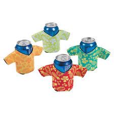 12 Tropical Hawaiian Shirt Can Covers Insulators (like Koozies) Tiki Bar Supplie
