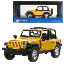 MZ 1/24 Scale Diecast JEEP WRANGLER Model Cars Toys With Box Yellow