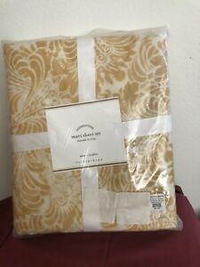 Pottery Barn Mari New Twin Size Sheet Set Yellow Gold NWT