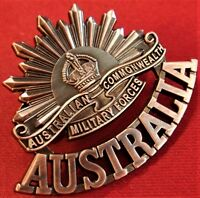 **ANZAC WW1 & WW2 RISING SUN COMMEMORATIVE UNIFORM BADGE MEDALS AUSTRALIA AIF**