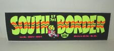 "VINTAGE SOUTH OF THE BORDER ATTRACTION S CAROLINA 6""x2"" MINI BUMPER STICKER YLW"