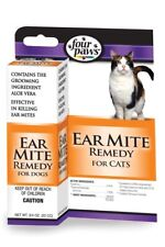 Four Paws Aloe Ear Mite Treatment Cat .75oz With Aloe Vera Soothe And Kill Mite