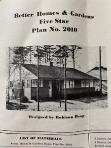 Vintage Architectural Blueprints 1950 Better Homes Gardens 5-star Plan 2010 RARE