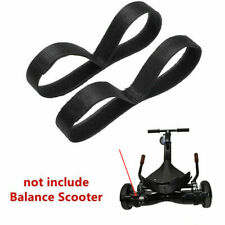 2pcs Balance Scooter Accessory HoverKart Replacement Strap Fastener Belts Black