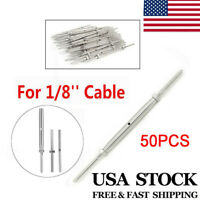 """50P 316 Stainless Steel Hand Swage Tensioner Lag Screw for 1/8"""" Cable Railing US"""