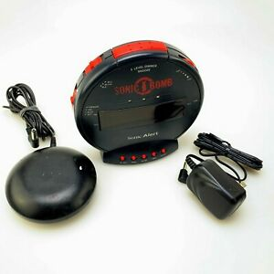 Sonic Boom Alarm Clock   Extra Loud   With External Bed Shaker   Working