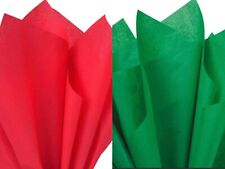 """Christmas Red and Green Combo Tissue Paper, 15x20"""" 50 or 100 sheets"""