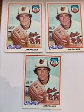 1978 Topps JIM PALMER A.L. ALL-STAR #160 Baltimore Orioles lot of 3