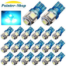 20 x Ice Blue T10 194 5-SMD LED LICENSE TAG/MAP/DOME INTERIOR LIGHTS BULBS W5W