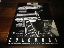RANDY WESTON & JOHNNY COPELAND - Publicité de magazine / Advert !!! COLOMBES !!