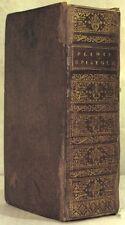 LETTRES DE PLINE LE JEUNE LATIN FRANCFORT 1727 ABE