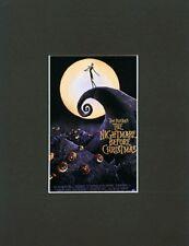 NIGHTMARE BEFORE CHRISTMAS~ 8 x 10~Mat Print~Tim Burton~IN THE MOONLIGHT~NEW