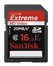 SanDisk Extreme SDHC Karte 16GB Sandisk Extreme HD Video 16GB inkl. Schutz Cover
