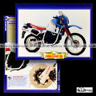 #109.07 Fiche Moto CAGIVA 350 ELEFANT 1987 Trail Bike Motorcycle Card