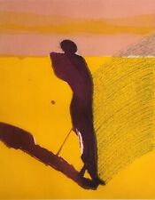 "Fritz Scholder ""Mystery Portrait in Barcelona 2"" Hand Signed Etching, Make Offer"