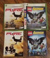 Lego Batman the Videogame and Pure Microsoft Xbox 360 Complete