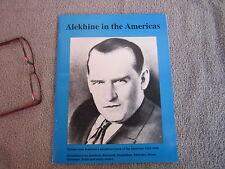 Chess Grandmaster World Champion Alexander Alekhine Author Signed Game 1992