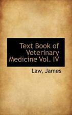 Text Book of Veterinary Medicine by Law James (2009, Paperback)