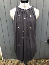 NEXT dark Grey Beach Dress. Sequins. Summer Holiday. Size 8.