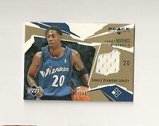 2003-04 Black Diamond Jerseys Gold #BDLH Larry Hughes numbered /100 Wizards