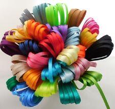 Berisfords 3mm Double Satin Ribbon Mixed Colours 10 x 3Mtr Lengths Free P & P