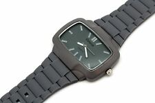 The Player Geneva Men White Watch  Silicone Band Blue,Grey,Brown Rectangle Face