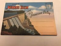 Souvenir Of Norris Dam And Tennessee Valley Postcard Book-1960's? Free Shipping