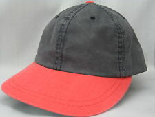 NEW VINTAGE CHARCOAL GRAY & RED BILL LOW PROFILE CAP HAT MADE IN USA