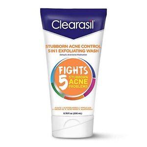 Clearasil Stubborn Acne Control 5in1 Exfoliating Wash Salicylic Acid