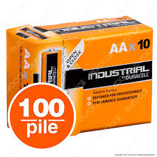 100 Batterie Duracell Industrial Procell Pile Alcaline Stilo AA