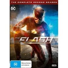 THE FLASH-Season 2-Region 4-New AND Sealed-6 DVD Set-TV Series