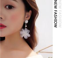 Fashion Jewelry Korean Style Ribbon Lace flowers Tie  Earrings
