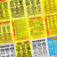 READING & LEEDS FESTIVAL Line Up Posters PHOTO Print POSTER Prints 1988-Present