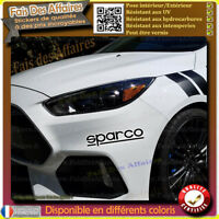 2 Stickers Autocollant Sparco sponsor tuning rallye decal drift