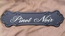 WINE SIGN PINOT NOIR Metal Vintage Style Winery Cellar Bar Pub Kitchen Decor