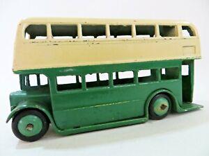 DINKY 29c/290 'LEYLAND TITAN DOUBLE DECK BUS. GREEN/CREAM. VINTAGE. GOOD.