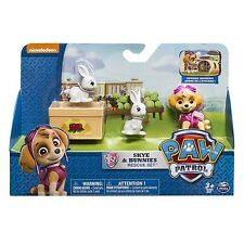 Genuine Paw Patrol Skye & Bunnies Rescue Set Action Pack Figure Good Cake Topper