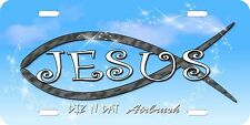 Christian, Jesus,religion airbrush license plate, car tag auto custom novelty