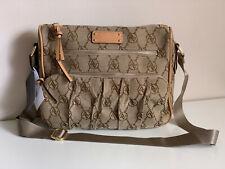 NEW! ADRIENNE VITTADINI BROWN SIGNATURE JACQUARD CROSSBODY SLING BAG PURSE $168