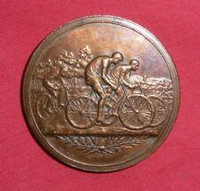 médaille en bronze course CYCLISTE NANCY 1896 , 19th cycling race medal