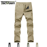 Mens Winter Tactical Fleece Lined Pants Airsoft Waterproof Hunting Pants Trouser